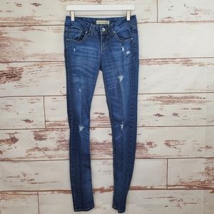Distressed Skinny Jeans Paris Blues 5